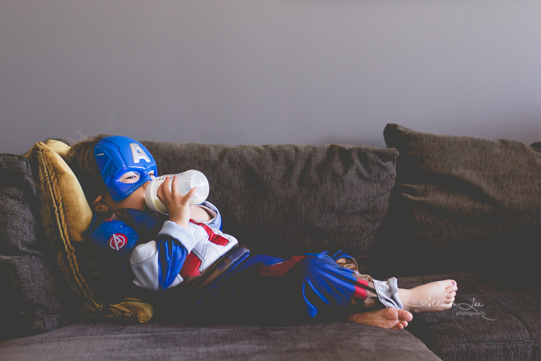 Captain America relaxing