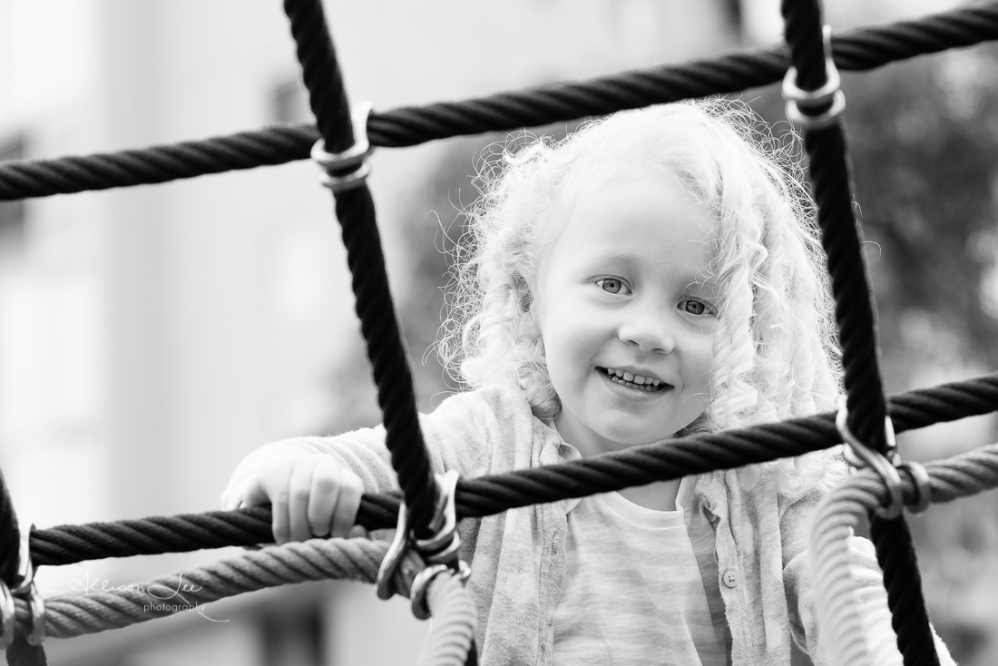 Portrait of little girl in Pyrmont