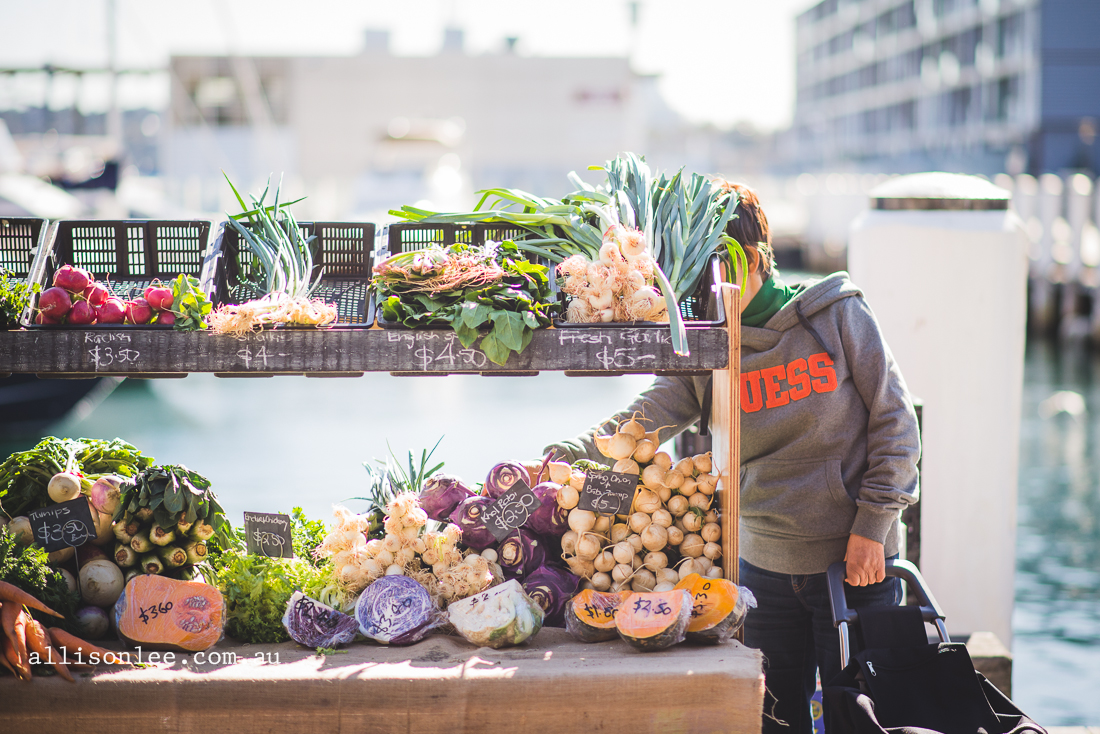 Morning markets in Pyrmont
