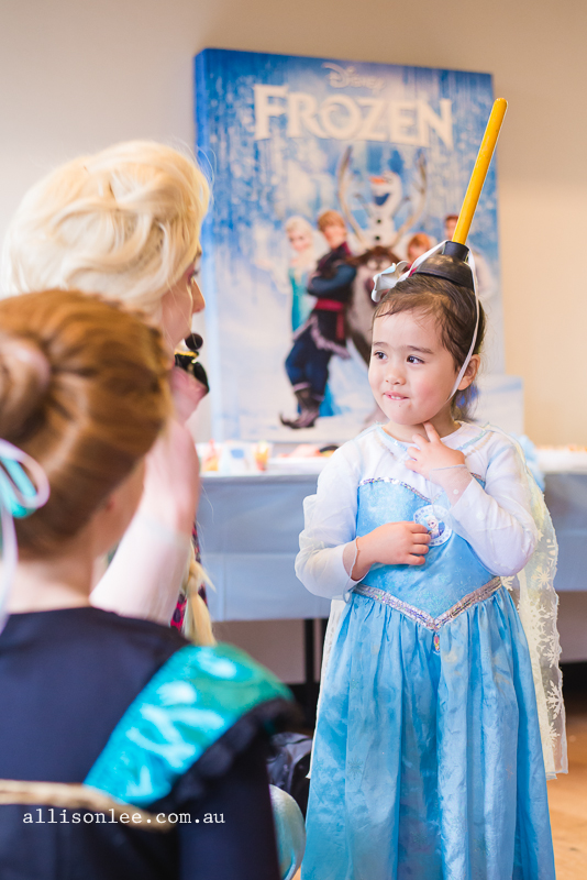 Four year old birthday party Elsa