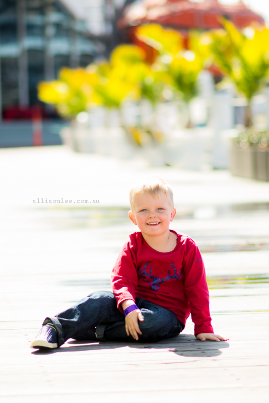 Gorgeous Four Year Old Boy In Darling Harbour