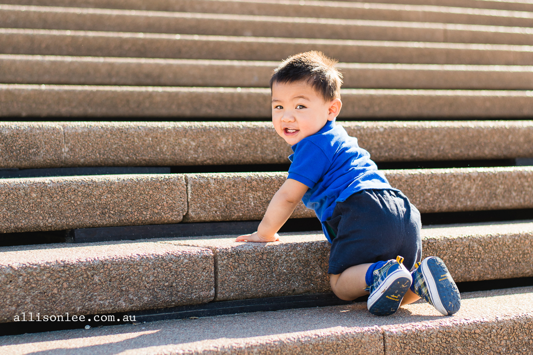 One year old a the Sydney Opera House