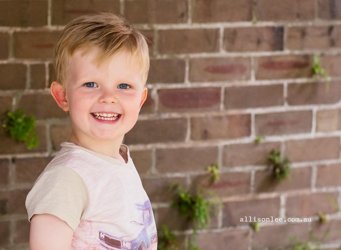 Four year old blue eyed boy