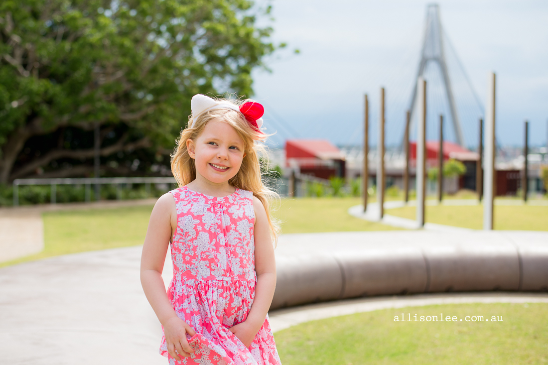 Four year old blond girl in Pyrmont