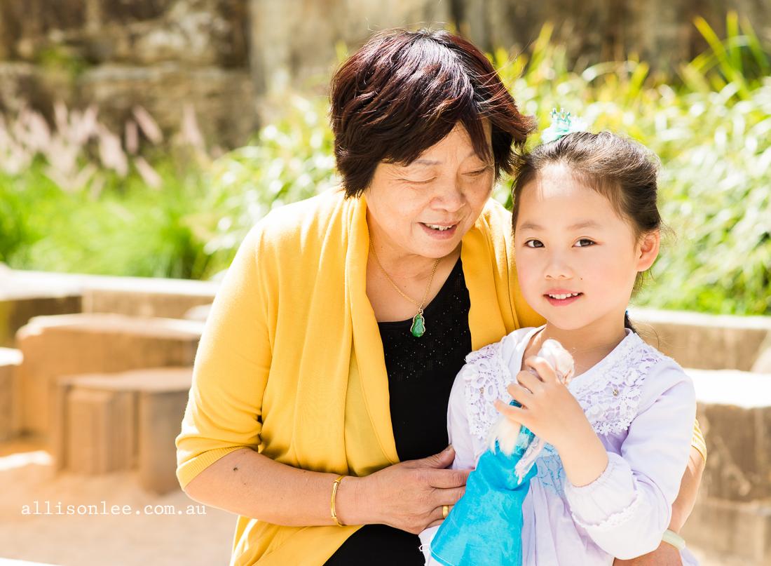 Grandma and granddaughter playing at Pirrama Park