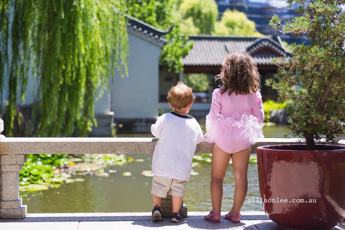 siblings at Chinese Garden