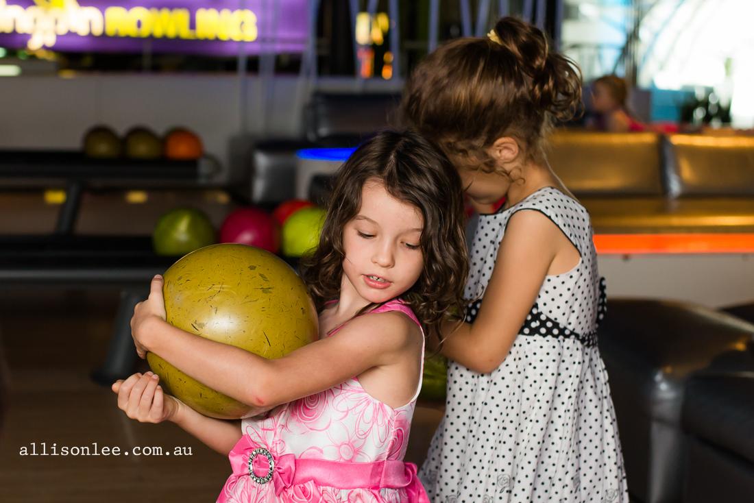 birthday girl bowling