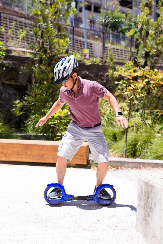 Dad skateboading at Pirrama Park