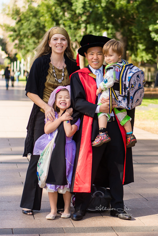 Family at UNSW graduation