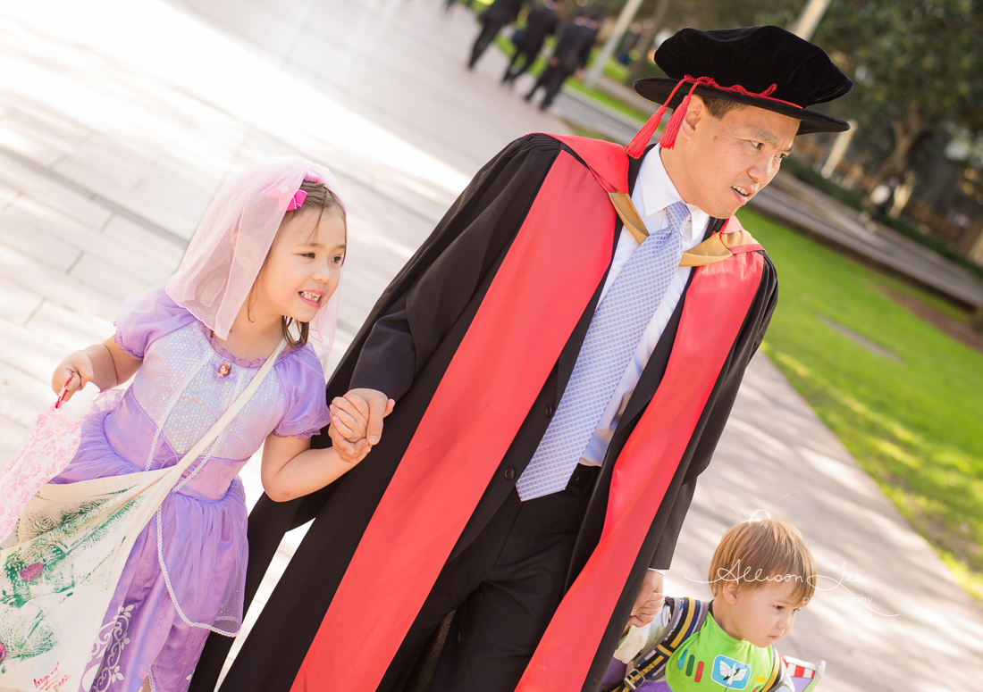 sofia the first at a UNSW graduation