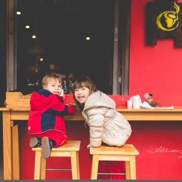 kids at Kebo cafe in Pyrmont
