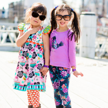 two girls at the maritime museum in darling harbour