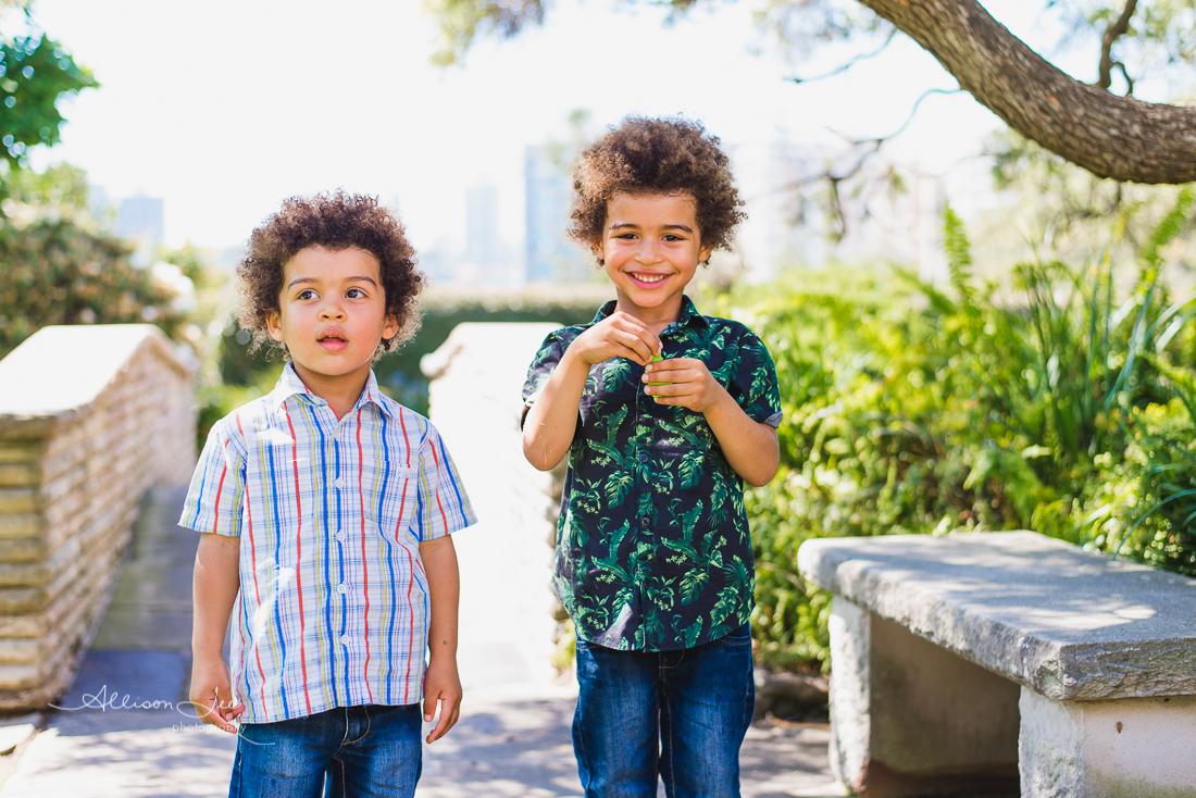 Sibling portrait in Sydney