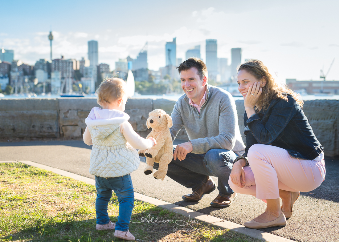 Fun family portrait in Sydney